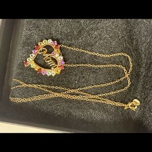 Beautiful  zircon gold plated MOM necklace